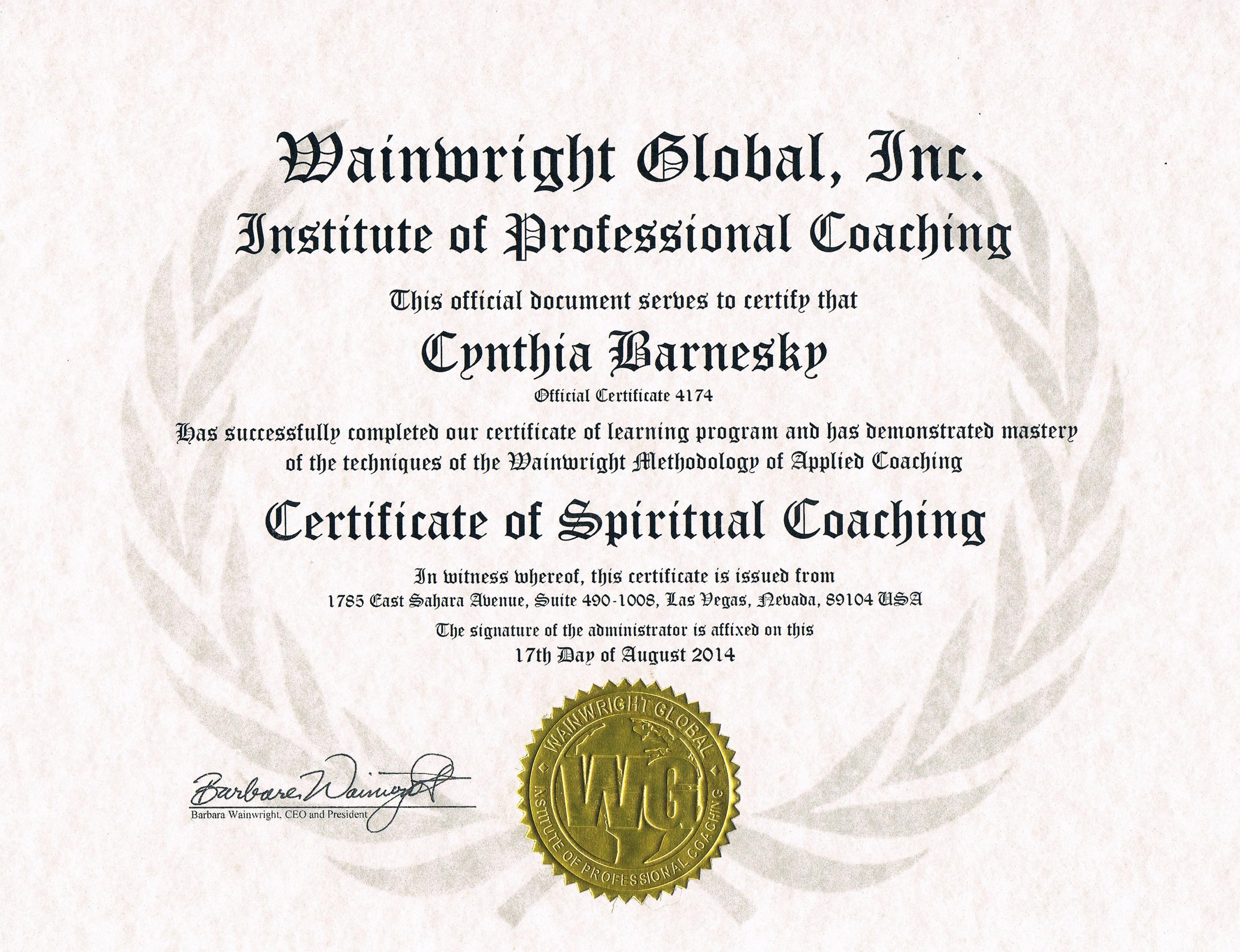 Spiritual Coaching 2015