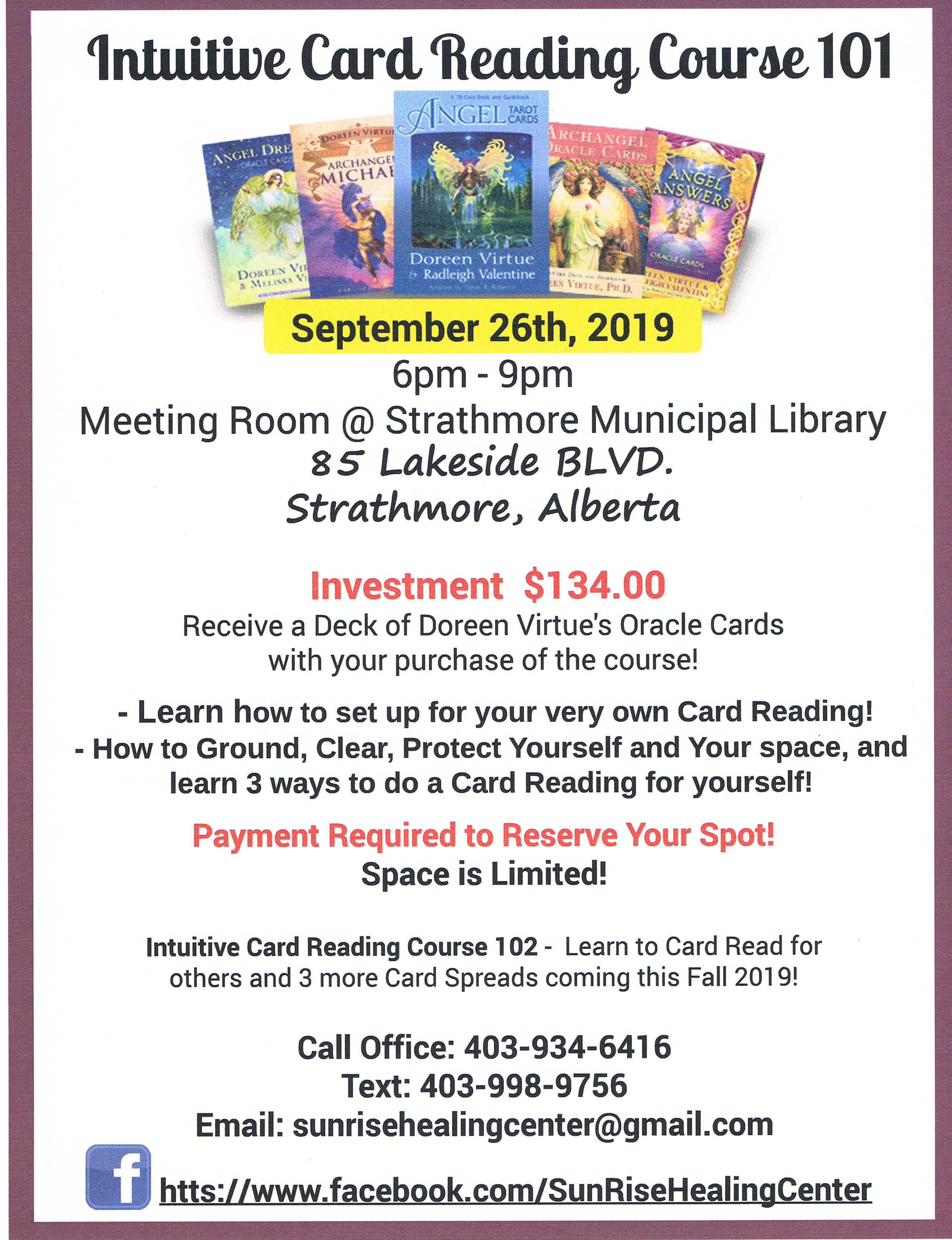 September 26, 2019 - Intuitive Reading course 101